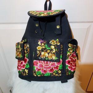 Handbags - Asian Floral Backpack
